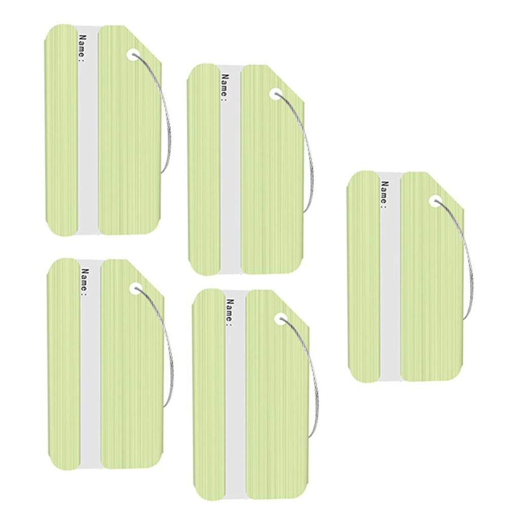 Aolvo Cruise Luggage Tags, Aluminum Travel Bag Tags ID Name Address Labels Tag Holders W/Steel Loops for Baggage & Suitcases, Personalized Gift for Women/Men (5 Pack) - Assorted Color