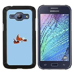 YiPhone /// Prima de resorte delgada de la cubierta del caso de Shell Armor - Arca de Noé Titanic divertido - Samsung Galaxy J1 J100