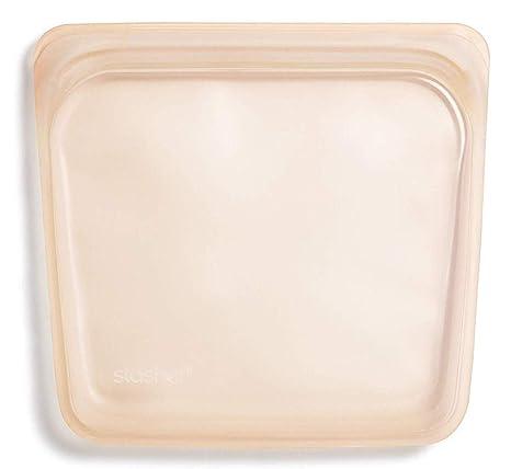 Stasher 972 - Bolsa reutilizable para sándwiches de platino ...