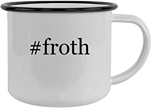 #froth - 12oz Hashtag Camping Mug Stainless Steel, Black