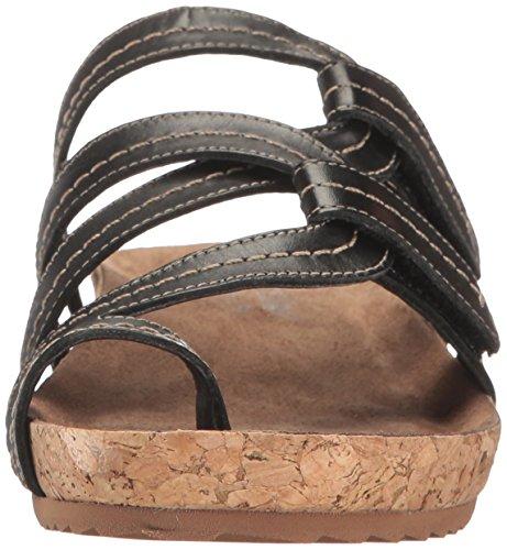 Walking Cradles Womens Panama Flat Sandal Zwart