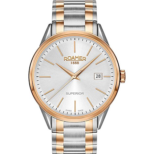 Roamer of Switzerland Women's Superior 30mm Two Tone Steel Bracelet Quartz Analog Watch 508856 49 15 51
