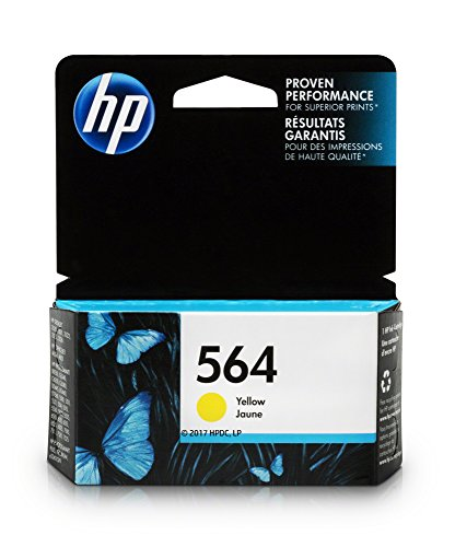 HP 564 Ink Cartridge, Yellow (CB320WN) for HP Deskjet 3520 3521 3522 3526 HP Officejet 4610 4620 4622 HP Photosmart: 5510 5512 5514 5515 5520 5525 6510 6512 6515 6520 6525 7510 7515 7520 7525 B8550 C6340 C6350 D7560 C510 B209 B210 C309 C310 C410 C510 (564 Series)