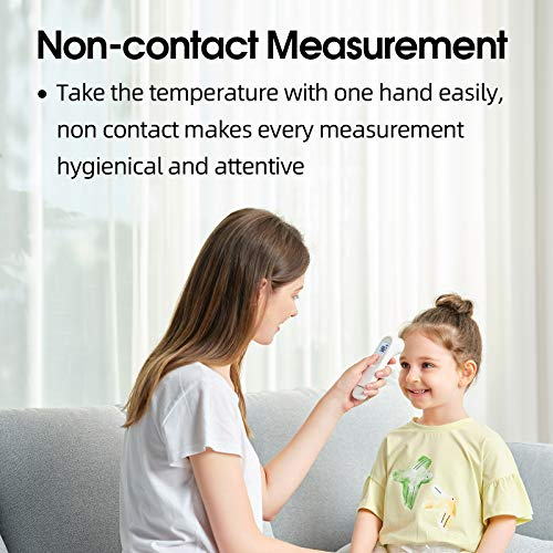 yuwell Infrared Thermometer for Adults and Kids, Forehead Non ContactBaby Thermometer with Instant Accurate Reading, Fever Alarmand Gentle Vibration Alert