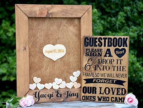 Wedding Guest Book Alternative - Heart Drop Guest Book - Guest Book Drop Box - Guest Book Sign - Guestbook Drop Box - Guest Book Ideas ()