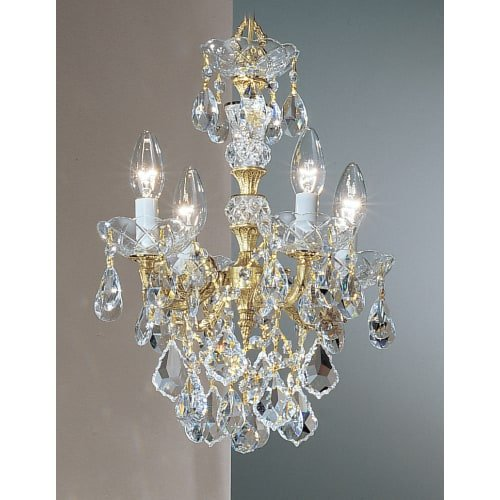 Olde Cast Brass Crystal (Classic Lighting 5544 OWB SC Madrid Imperial, Crystal Cast Brass, Mini-Chandelier, Olde World Bronze)