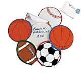 Bargain World Paper Sport Ball Notepads (With Sticky Notes)