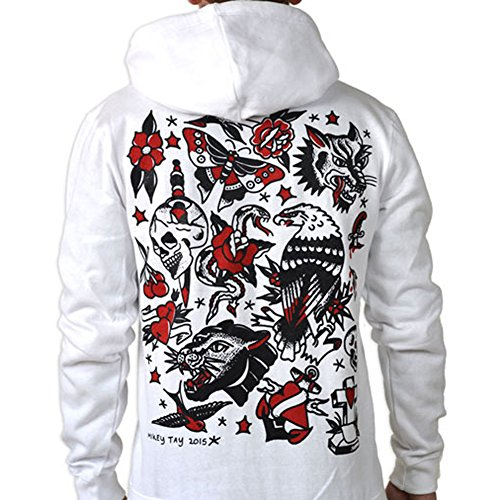 Unisex Cartel Ink Tattoo Flash One Hoodie White