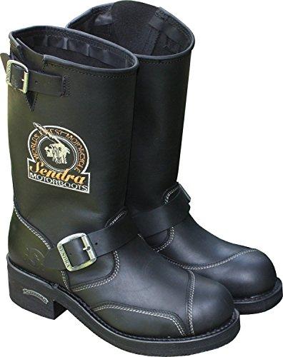 Sendra Motorradstiefel Boots 3565 schwarz Schwarz