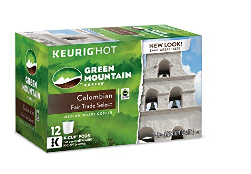 Free Coffee Roast - Green Mountain Coffee Keurig Single-Serve K-Cup Pods, Colombian Fair Trade Select Medium Roast Coffee, 72 Count (6 Boxes of 12 Pods)