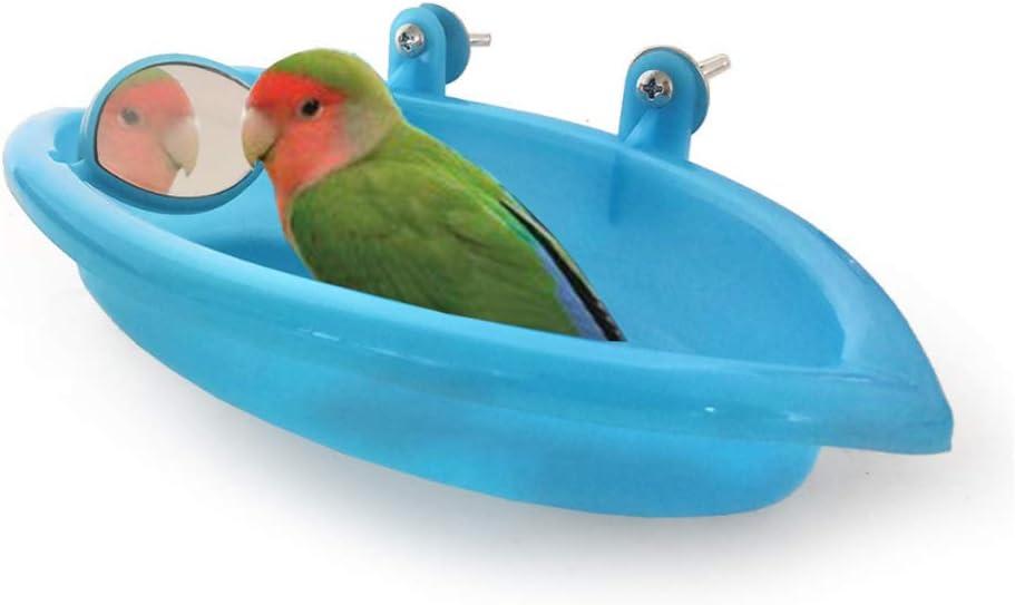HPiano - Caja de ducha con espejo y espejo para loros y pájaros