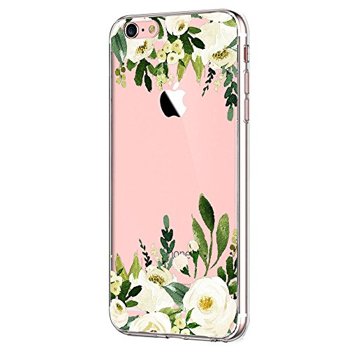 Case Compatible with iPhone 6s Plus, iPhone 6 Plus Case HD Cats Flower Love Butterfly Girl Clear Design Transparent TPU Cover (not for iPhone6 / 6s!) (2)