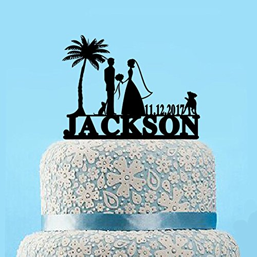 51zrMDFzpdL The Best Palm Tree Wedding Cake Toppers
