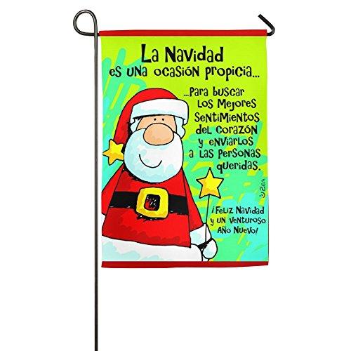 Spanish Feliz Navidad Garden Flag Home Banner Gifts Nativity Decorative Party Yard Be Merry (Spanish Christmas In Crackers)