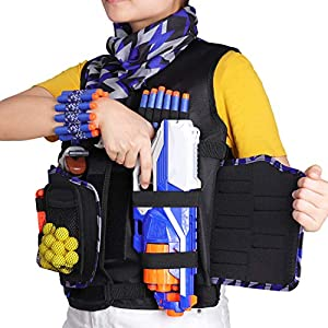 UWANTME-Detachable-Tactical-Vest-Kits-Kids-for-Nerf-Guns-N-Strike-Elite-Series