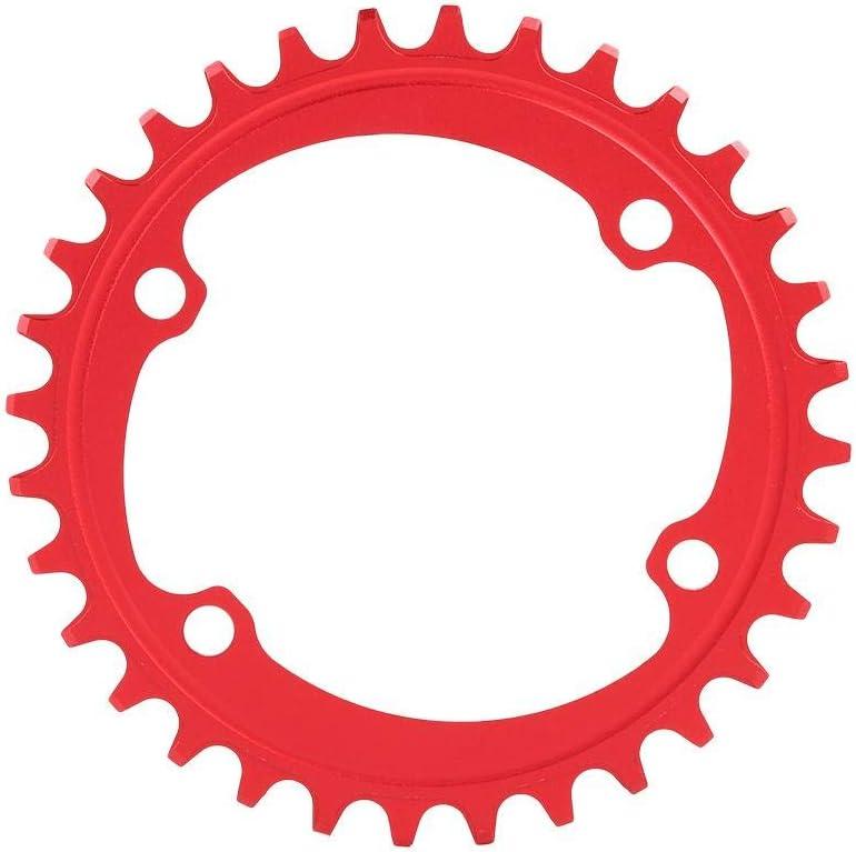 Anillo de Cadena de una Sola Velocidad BCD 96 mm Ancho Plato Estrecho Anillo de Cadena /única 32T 34T 36T 38T Dioche Plato de Bicicleta