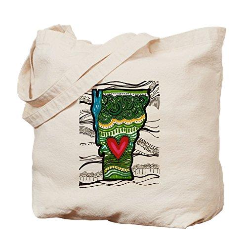 CafePress - Love VT - Natural Canvas Tote Bag, Cloth Shopping - Bag Shopping Vt