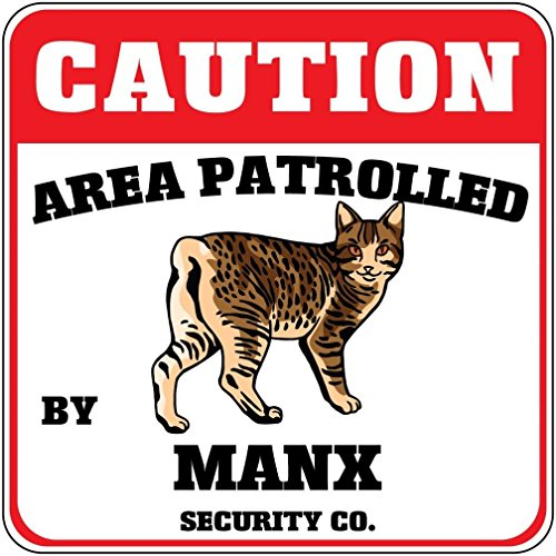 Cat Crossing Funny Metal Aluminum Novelty Sign
