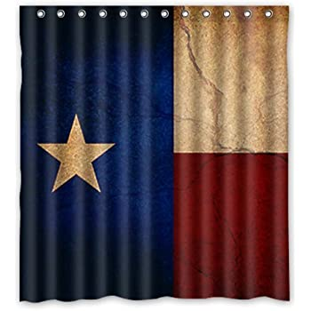 Texas Flag Fabric Shower Curtain Lone Star Texan Home Kitchen