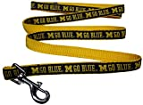 Pets First Collegiate Pet Accessories, Dog Leash, Michigan Wolverines, Large