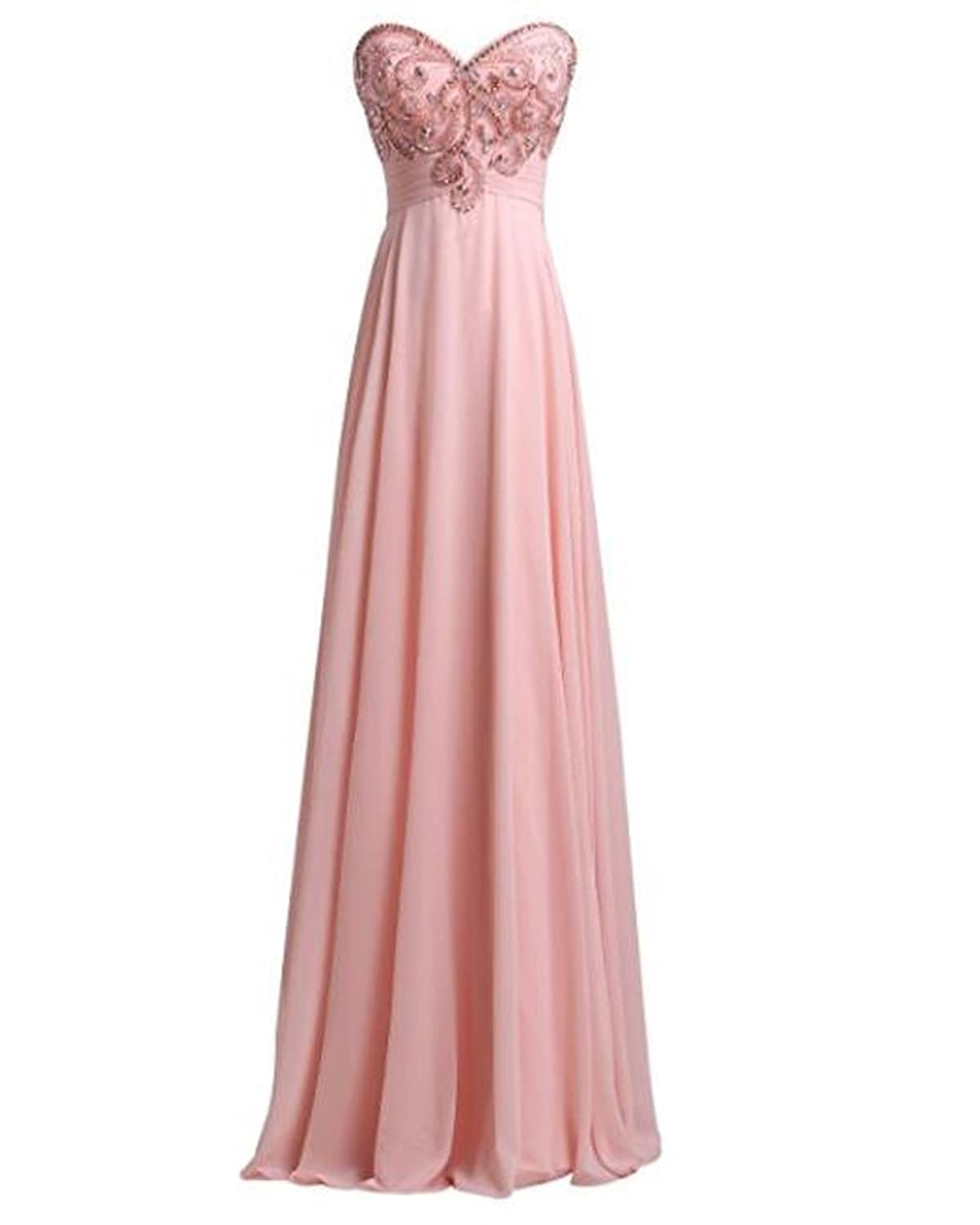 Leader of the Beauty Women's Prom Dress A Line Sweetheart Beading Evening Dress