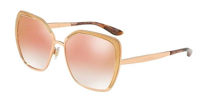 Dolce e Gabbana 0DG2197, Gafas de sol para Mujer, Pink Gold ...