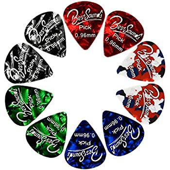 bestsounds assorted pearl celluloid guitar picks for your electric acoustic or. Black Bedroom Furniture Sets. Home Design Ideas