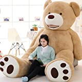 VERCART 11 Foot 133 inch Light Brown Giant Gigantic Large Teddy Bear Stuffed Plush Animal Toy Gift for Kids Friends