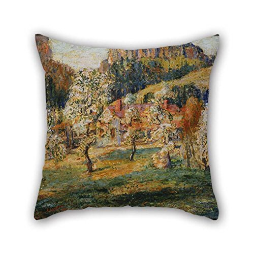 Paisley Brown Needlepoint (Cushion Cases 18 X 18 Inches / 45 By 45 Cm(two Sides) Nice Choice For Him Father Gril Friend Home Kids Boys Bedroom Oil Painting Ernest Lawson - May In The Mountains)