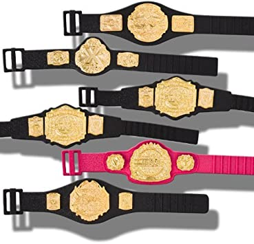 Set of 6 TNA Jakks Action Figure Belts