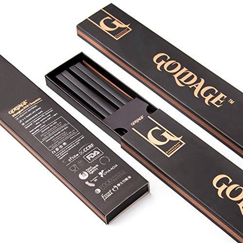 Goldage 2-Pairs Fiberglass Dishwasher-safe Chopsticks (Japanese Minimalism - Koi Fish) - Japan Koi Quality High