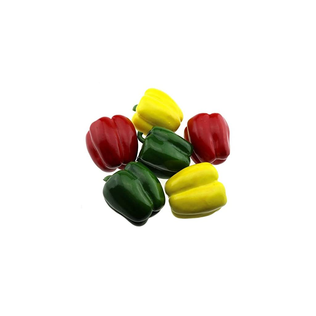 Gresorth-6-PCS-Artificial-Red-Green-Yellow-Pepper-Fake-Peppers-Home-Kitchen-Decoration