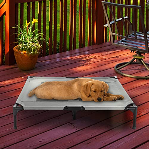 "(PETMAKER Elevated Pet Bed-Portable Raised Cot-Style Bed W/Non-Slip Feet, 36""x 29.75""x 7"" for Dogs, Cats, and Small Pets-Indoor/Outdoor Use (Gray))"