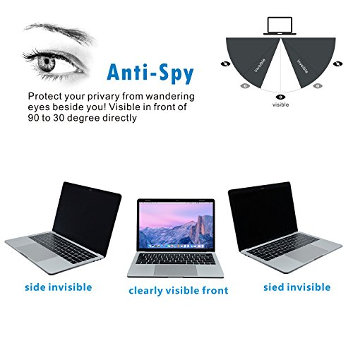 Accgonon Laptop Magnetic Privacy Screen Protectors Filter,Compatible 13-inch MacBook Pro (2016-current Version,Model:A1706A1708A1989),Anti-Glare,Anti-Spy,Scratch and UV Protection,Easy On/Off by ACCGONON (Image #1)