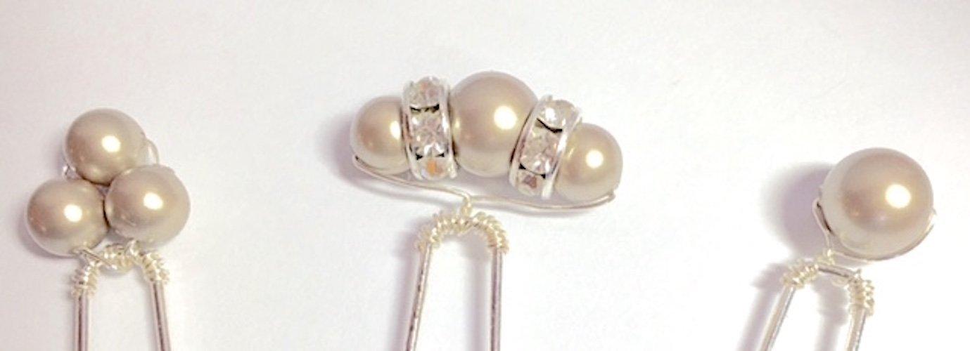 Champagne Hair Pins - Pearl Bobby Pins - Bridal Hair Accessories - Bridesmaids Hair Accessories - Wedding Accessories - Prom Hair