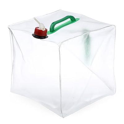 extérieur pliable de 20l d'eau Sac Portable de grande capacité transparente Eau potable pliable de stockage de conteneurs de transport bouilloire Seau en plastique équipement de camping Fournitures