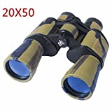 AUGYMER 20x50mm Binoculars, Binoculars for Hunting Bird Watching Wide Angle Fog-proof HD BAK4 Large Eyepiece High Power Binocular for Hunting Camping with Case(AUR720)