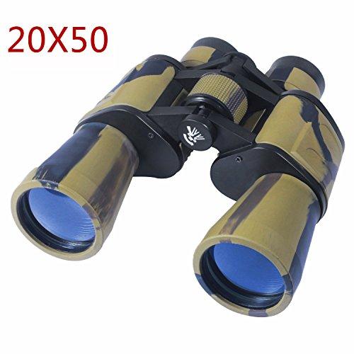 AUGYMER 20x50mm Binoculars, Binoculars for Hunting Bird Watching Wide Angle Fog-proof HD BAK4 Large Eyepiece High Power Binocular for Hunting Camping with Case(AUR720) – DiZiSports Store