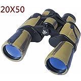 AUGYMER 20x50mm Binoculars, Binoculars for Hunting Bird Watching Wide Angle Fog-proof HD BAK4 Large Eyepiece High Power Binocular for Hunting Camping with Case(AUR720)