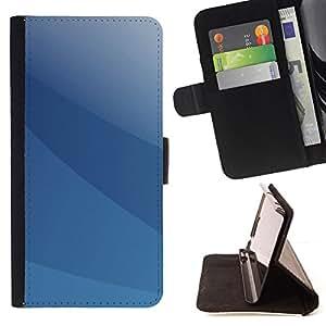 Jordan Colourful Shop - Blue Minimalist For Samsung Galaxy S5 V SM-G900 - < Leather Case Absorci????n cubierta de la caja de alto impacto > -