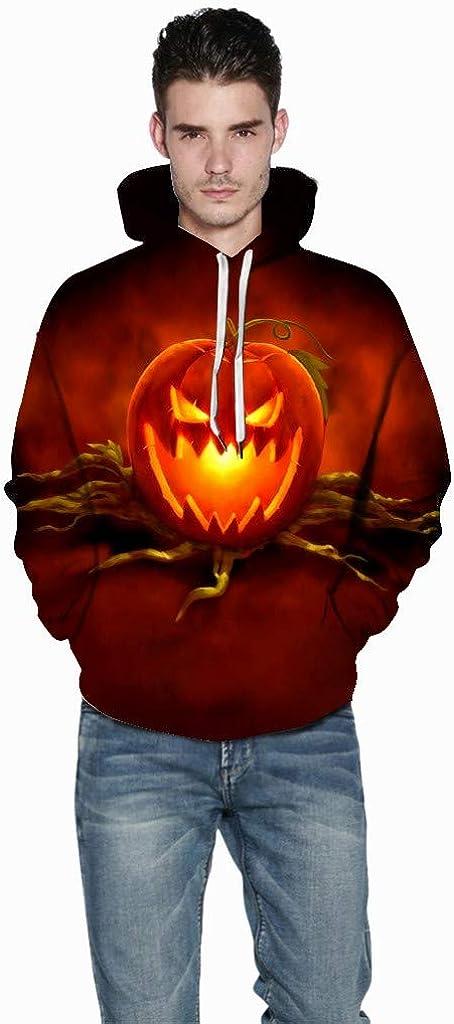 3D Print Pumpkin Pullover Hoodie Men Sweatshirt with Pocket Tops Blouse Hooded Outwear Tracksuit Jacket WEI MOLO