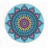 HLM- Round Round Yoga mat Meditation Pilates, Round Casual Indoor mat Non-Slip Yoga mat with Non-Slip Rubber Sole Sports Rug