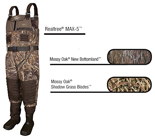f715cd6434d058 Drake MST Eqwader 2.0 Insulated Breathable Wader Stout (Mossy Oak  Bottomland) (Mens 8