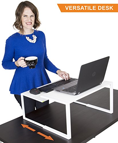 The Original Adapt-a-Desk by Stand Steady | 2 Piece Interchangeable Desk | Set of 2 Small Tables, Use As Standing Desk, Laptop Stand, Side Tables Set, Nesting Stand Up Desks & More! - 2 Piece Set Computer Desk
