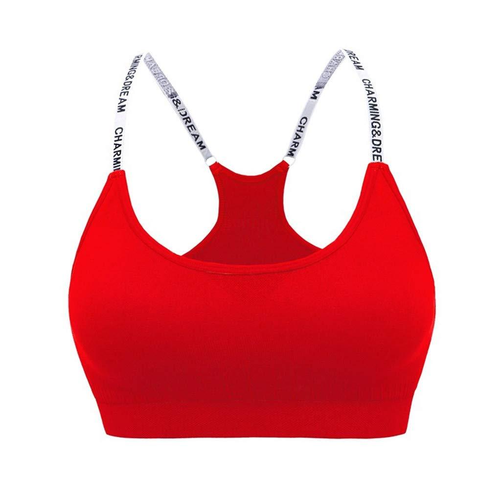 3488ed72adcb6 Amazon.com  Goldweather Women Padded Seamless Sports Bras Comfortable High  Impact Support Fitness Yoga Activewear Bra Underwear  Clothing