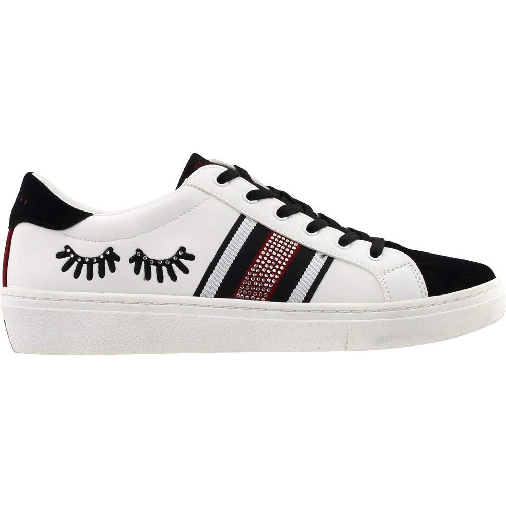 Skechers Goldie Damen Baton-Wimpern, sportlich, Sneaker, Weiß Weiß