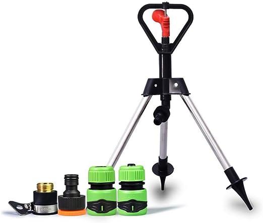 Aspersores De Riego Aspersor con trípode Automatico Rotación 360 °, Trípode Aspersor Flexible para Jardín: Amazon.es: Hogar
