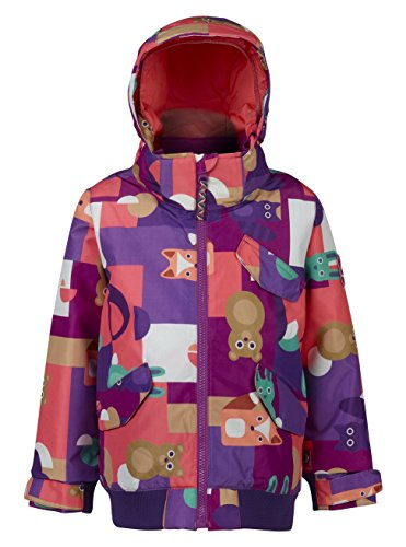 Burton Youth Girls Minishred Twist Bomber Jacket, Paper Animals, Size (Burton Girls Fleece Jacket)