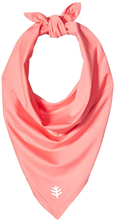 Coolibar UPF 50+ Men's Women's Performance Sun Bandana - Sun Protective (One Size- Rosy Coral) best outdoor mask for women
