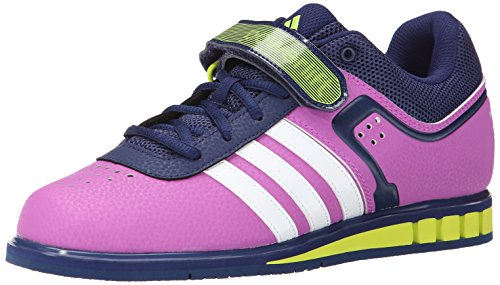 adidas Performance Women's Powerlift.2 W Weightlifting Trainer Shoe,Pink/White/Semi Solar Yellow,7 M US